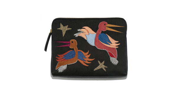 Safari Clutch In Stork