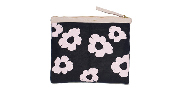 "Oversized Pouch In ""Pink Daisy"""