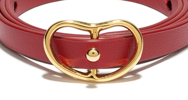 Skinny Georgia Belt In Red
