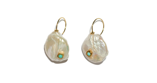 dac1a4428 ... Full view of Piccolo Pearl Earrings. Classic, timeless, and trend-proof.
