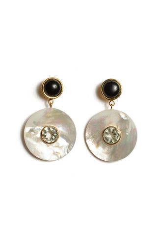 Taj Disc Earrings In Pearl