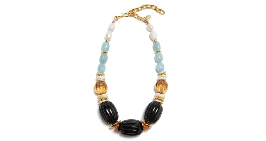 Full view of Villa Necklace. Plan your next getaway in the Villa, our single-strand necklace...