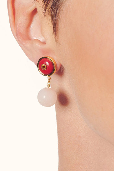 Yolo Earrings in Valentine