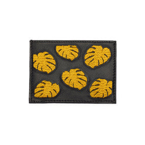 Card Case in Yellow Palm