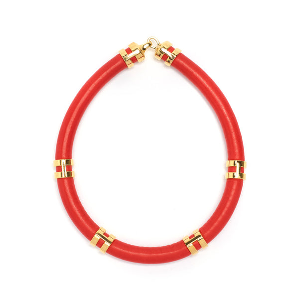 Double-Take Necklace In Red