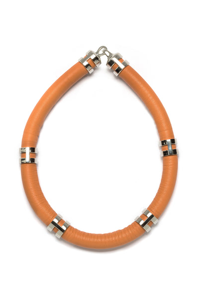 Double Take Necklace In Tangerine