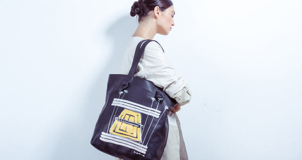 Leather Tote In Ace