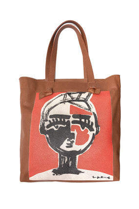 Leather Tote In Lagos Face