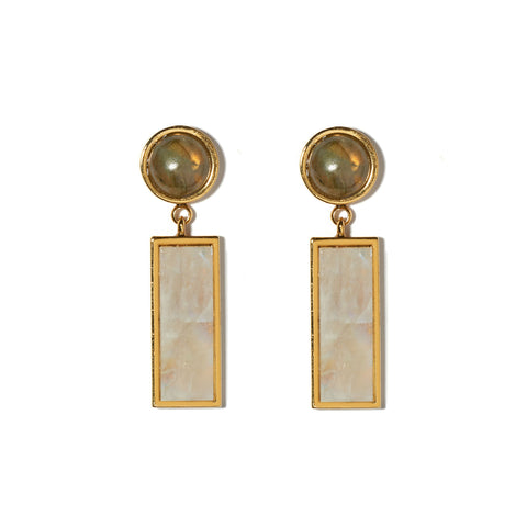 Column Earrings in Dew