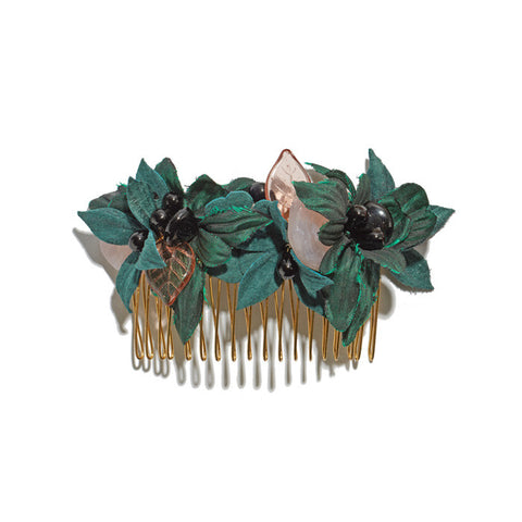 Hair Comb In Forest Flower