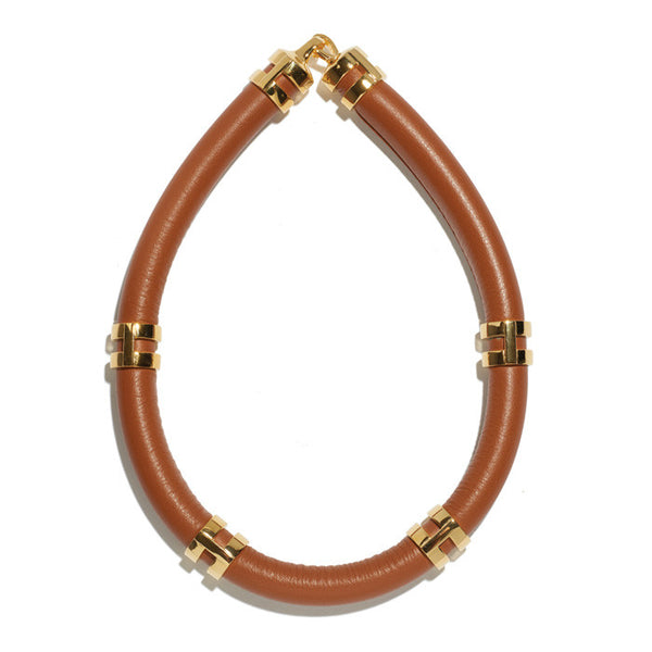 Double Take Necklace In Saddle
