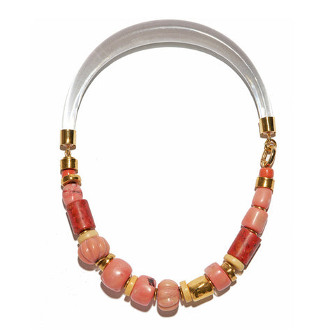 Carved Coral Collar