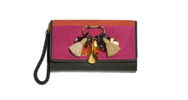 Opera Clutch In Pop Suede