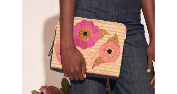 Safari Clutch In Flower Power