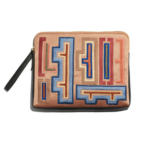 Safari Clutch In Hanoi Print