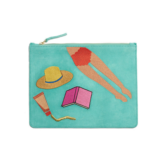 Zip Pouch In Sunbather