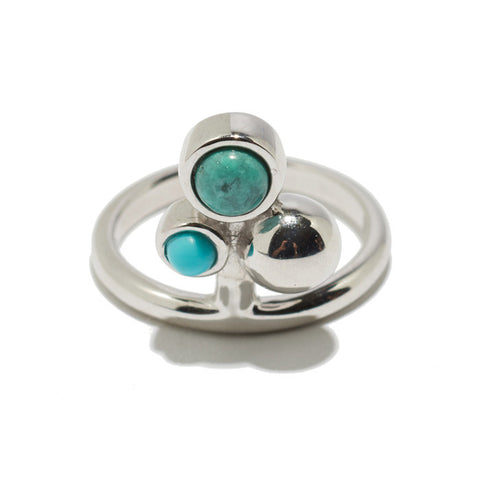 Cluster Ring In Turquoise