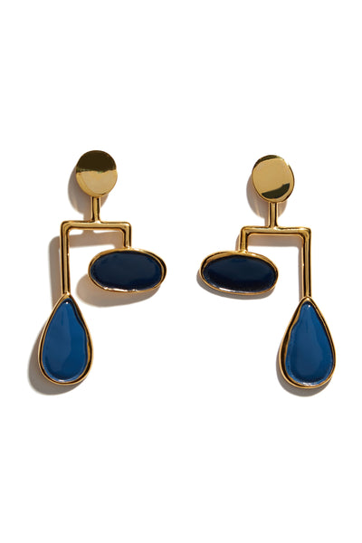 Drop Mobile Earrings In Midnight
