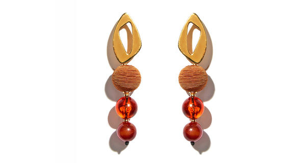 Cosmic Earrings In Amber