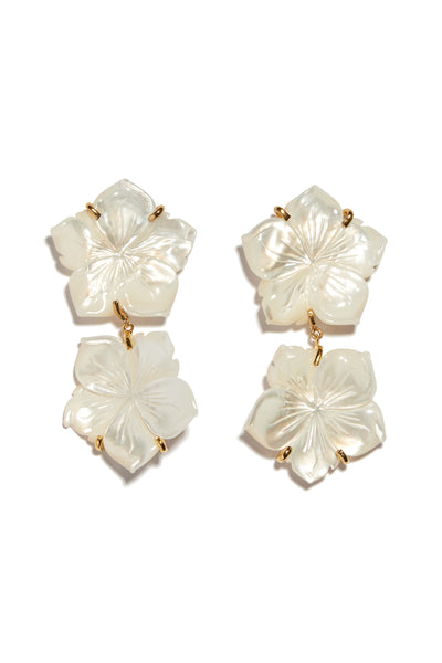 Paper White Reflection Earrings