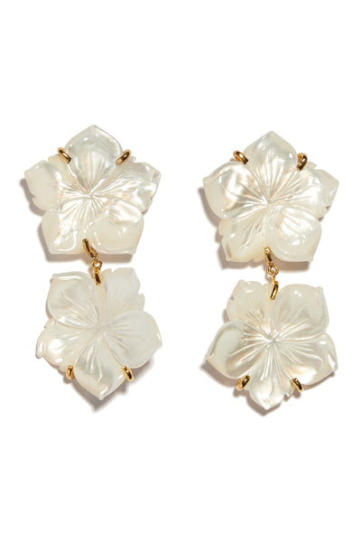 Thumbnail close-up of Paper White Reflection Earrings. Saying 'I do?' Make a statement and s...