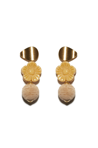 Goldenrod Column Earrings