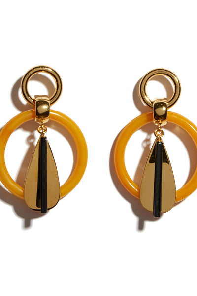 Amber Modern Earrings