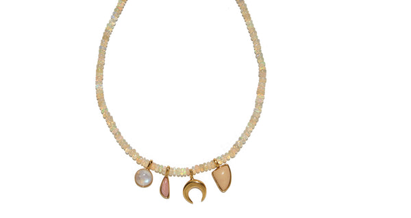 Amulet Necklace In Champagne