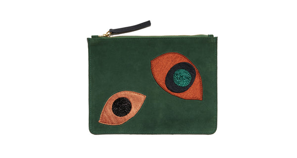 Zip Pouch In Abstract Eye