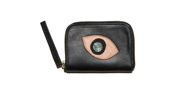 Zip Coin Purse In Abstract Eye
