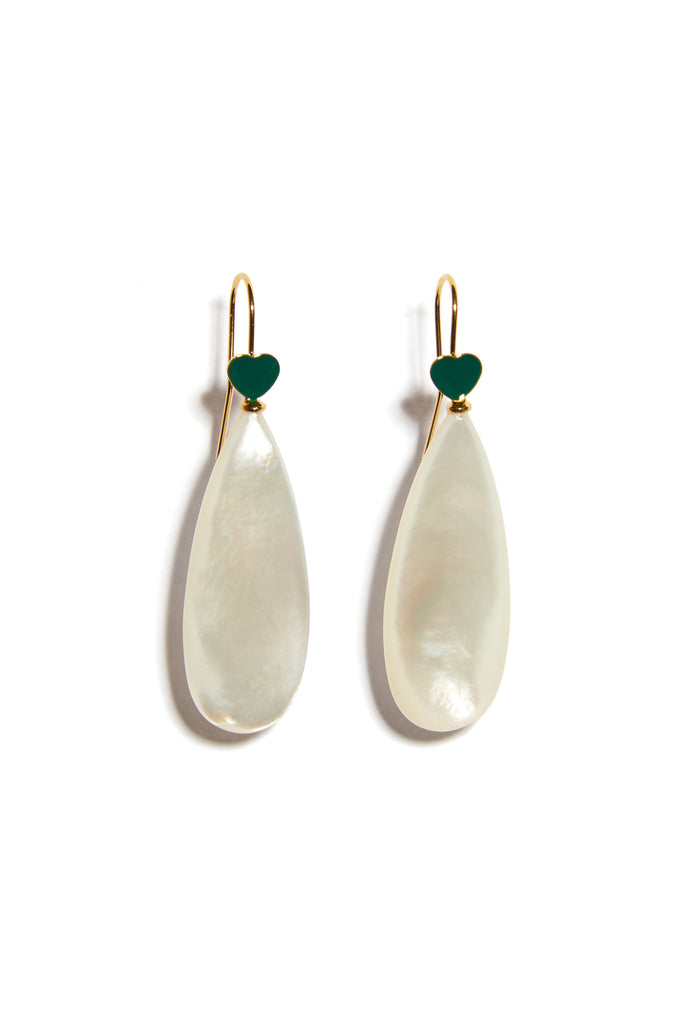 Be Mine Earrings In Mother Of Pearl