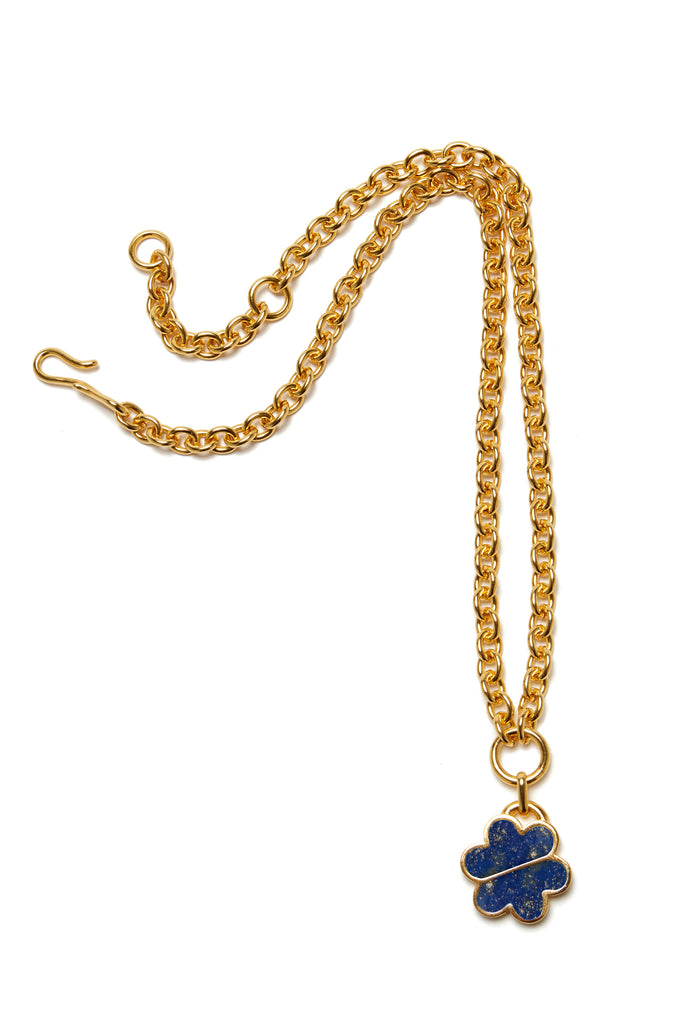 Daisy Chain Necklace In Lapis