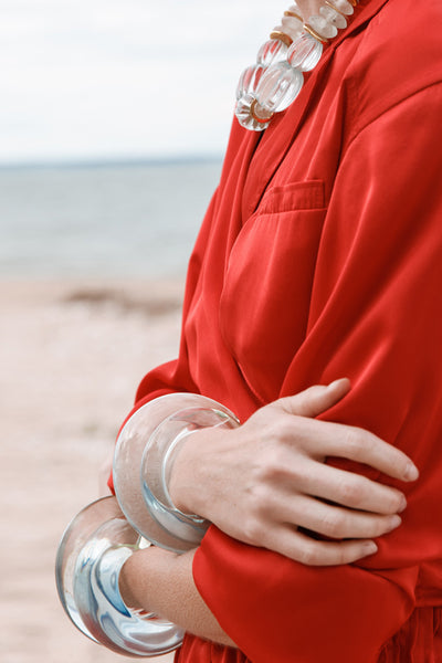 Thumbnail of model wearing the Meridian Cuff in Ocean. Did someone say ombre?! Capture the f...