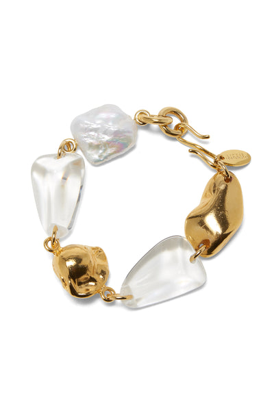Thumbnail close-up of Beach Stroll Bracelet In Clear. Take a walk on the style side in our b...