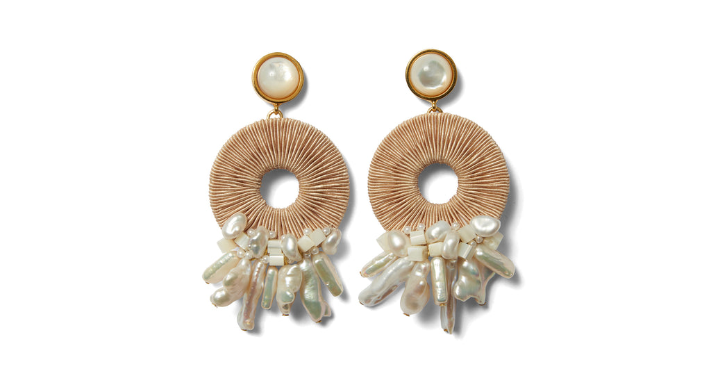 Full view of Ischia Earrings. We're fit to be 'tide' for the gorgeous gold-plate...