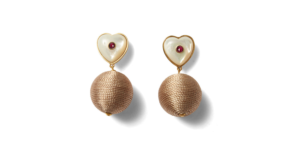 Full view of New Crush Earrings. No use trying to hide it-- we are totally crushing on these...