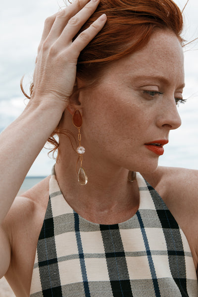 Thumbnail of model wearing the Field Of Dreams Earrings. Your wildest style dreams are comin...