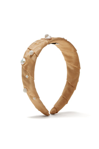 Confetti Headband In Butterscotch Pearl