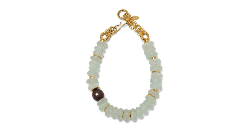 Full view of Tidal Necklace. Go with the flow! We adore the bold simplicity of this single-s...