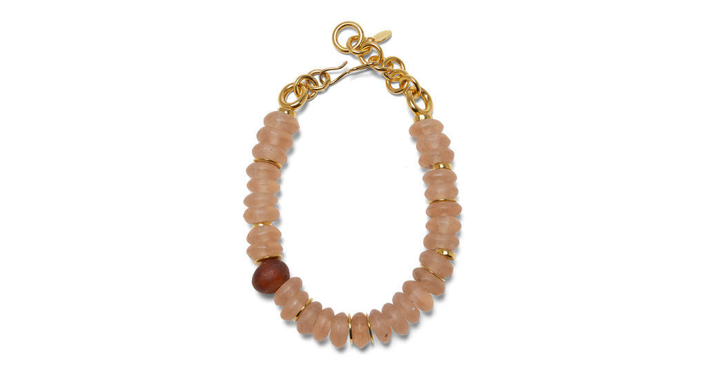 Full view of Sunset Necklace. Bask in the flawless beauty and bold simplicity of this single...