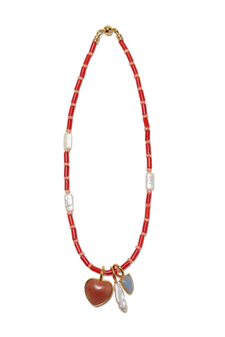 Catalina Necklace In Red