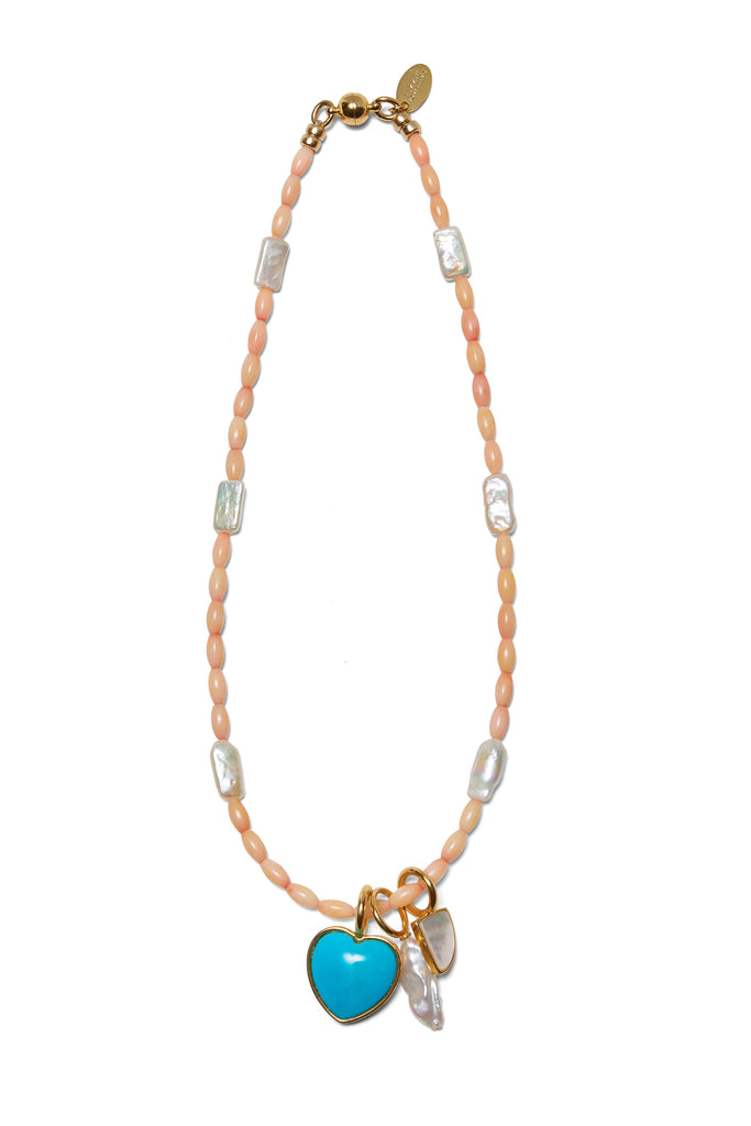 Catalina Necklace In Coral