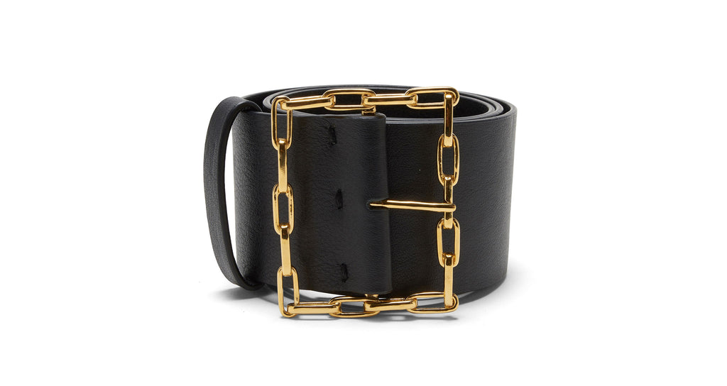 Full view of Geo Chain Belt In Black. Get your accessories game truly linked in with our Geo...