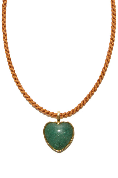 Best Friend Necklace in Green Quartz