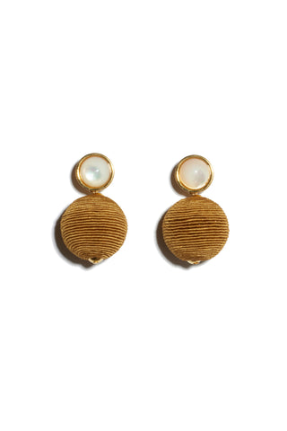 Mara Earrings in Mustard