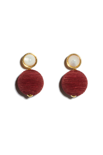 Maroon Mara Earrings