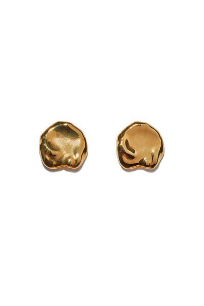 Thumbnail of Coin Pearl Studs. Small but mighty, these organically-shaped gold stud earrings are a perfect palate-cleanser for your jewelry collection. They also make a great never-go-out-of-style gift.
