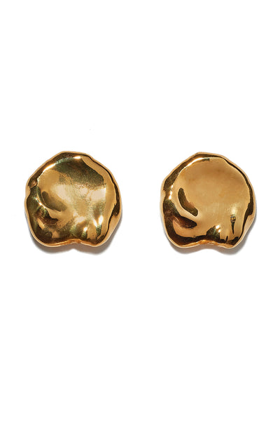 Thumbnail close-up of Coin Pearl Studs. Small but mighty, these organically-shaped gold stud earrings are a perfect palate-cleanser for your jewelry collection. They also make a great never-go-out-of-style gift.