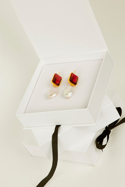 Aegean Earrings In Ruby