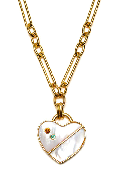 Exclusive Venice Heart Necklace in Pearl